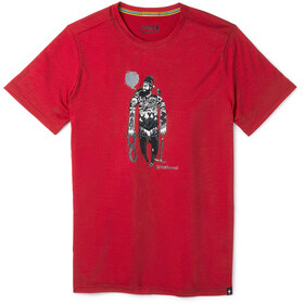 Smartwool Merino Sport 150 Game of Ghost T-shirt Herrer, chili pepper heather